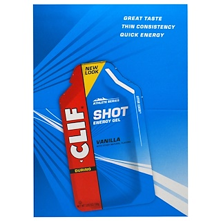 Clif Bar, Clif Shot Energy Gel, Vanilla, 24 Packets, 1.20 oz (34 g) Each