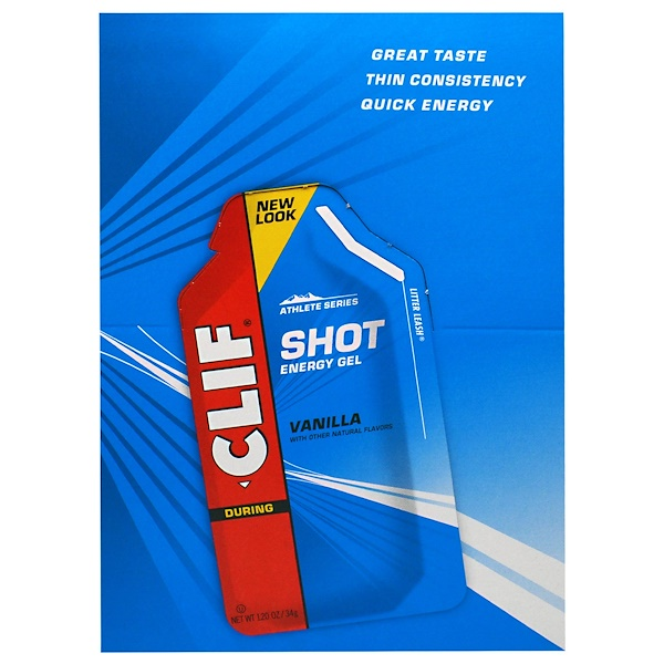 Clif Bar, Clif Shot Energy Gel, Vanilla, 24 Packets, 1.20 oz (34 g) Each (Discontinued Item)