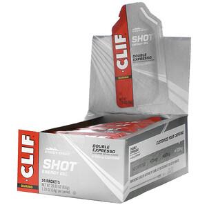 Клиф бар, Shot Energy Gel, Double Expresso + Caffeine, 24 Packets, 1.2 oz (34 g) Each отзывы покупателей