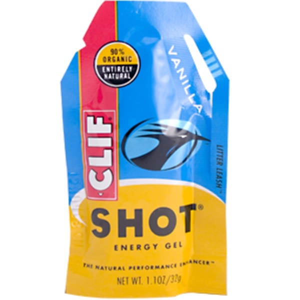 Clif Bar, Clif Shot Energy Gel, Vanilla Flavor, 24 Packets, 26.4 oz (768 g) (Discontinued Item)