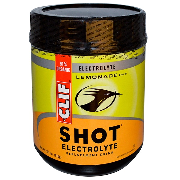 Clif Bar, Shot Electrolyte Replacement Drink, Lemonade Flavor, 2.01 lbs (910 g) (Discontinued Item)