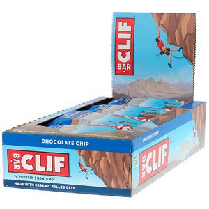 Клиф бар, Energy Bar, Chocolate Chip, 12 Bars, 2.40 oz (68 g) Each отзывы покупателей