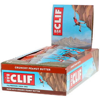 Clif Bar, Energy Bar, Crunchy Peanut Butter, 12 Bars, 2.40 oz (68 g) Each