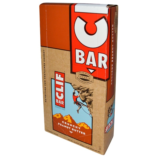 Clif Bar, Energy Bar, Crunchy Peanut Butter, 12 Bars, 2.4 oz (68 g) Each