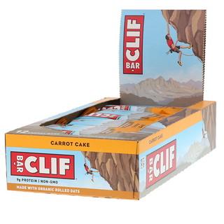 Clif Bar, Energy Bar, Carrot Cake, 12 Bars, 2.40 oz (68 g) Each
