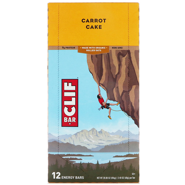Energy Bar, Carrot Cake, 12 Bars, 2.40 oz (68 g) Each