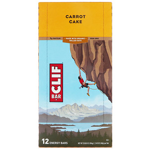 Клиф бар, Energy Bar, Carrot Cake, 12 Bars, 2.40 oz (68 g) Each отзывы покупателей
