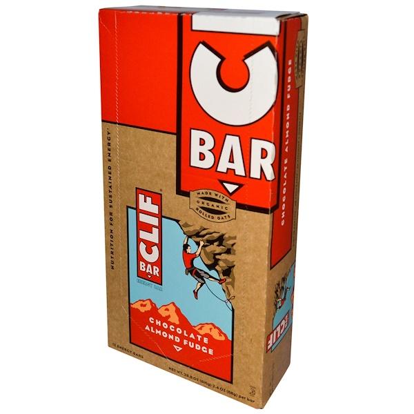 Clif Bar, Energy Bar, Chocolate Almond Fudge, 12 Bars, 2.4 oz (68 g) Each