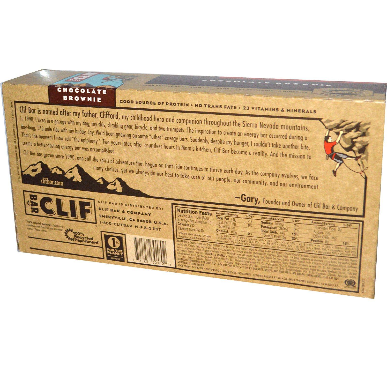 Clif Bar Chocolate Brownie Calories