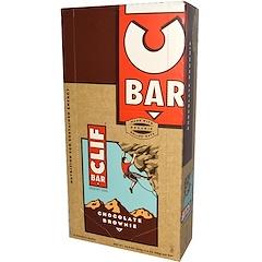 Clif Bar, Energy Bar, Chocolate Brownie, 12 Bars, 2.4 oz (68 g) Each