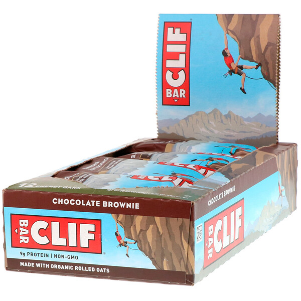 Clif Bar, Energy Bar, Chocolate Brownie, 12 Bars, 2.40 oz (68 g) Each