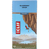 Clif Bar, Energy Bar, Blueberry Crisp, 12 Bars, 2.40 oz (68 g) Each