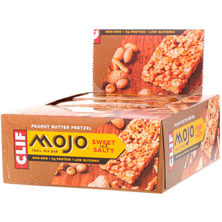 Clif Bar, Mojo, Sweet & Salty Trail Mix Bar, Peanut Butter Pretzel, 12 Bars, 1.59 oz (45 g) Each