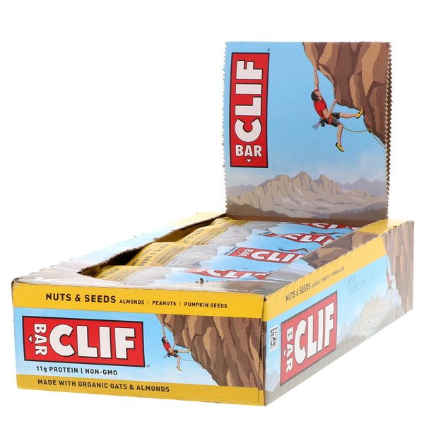 Clif Bar, Energy Bars, Nuts & Seeds, 12 Bars, 2.40 oz (68 g) Each