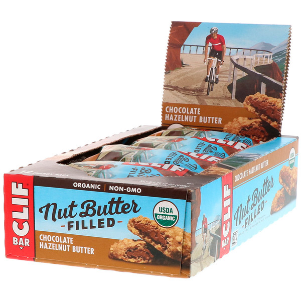 Organic, Nut Butter Filled Energy Bar, Chocolate Hazelnut Butter, 12 Energy Bars, 1.76 oz (50 g) Each