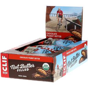 Клиф бар, Organic, Nut Butter Filled Energy Bar, Chocolate Peanut Butter, 12 Energy Bars, 1.76 oz (50 g) Each отзывы