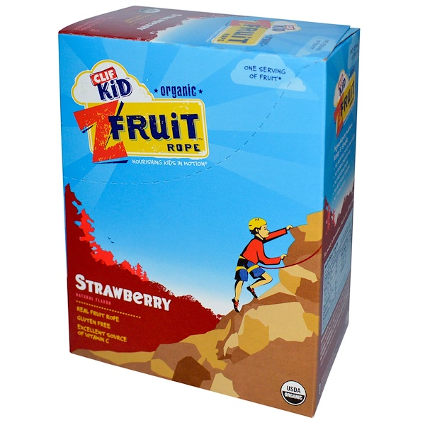 Clif Bar, Clif Kid, Organic ZFruit Rope, Strawberry, 18 Pieces, 0.7 oz (20 g) Each (Discontinued Item)