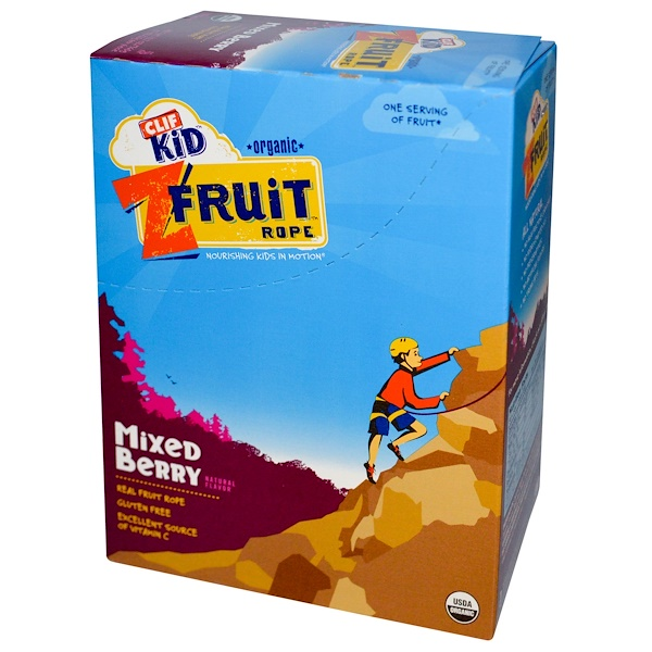 Clif Kid, Organic ZFruit Rope, Mixed Berry, 18 Pieces, 0.7 oz (20 g) Each