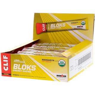 Clif Bar, Shot Bloks Energy Chews, Margarita Flavor + 3X Sodium, 18 Packets, 2.1 oz (60 g) Each