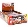 Clif Bar, Builder's Protein Bar, Cinnamon Nut Swirl, 12 Bars, 2.40 oz (68 g) Each
