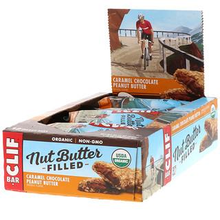 Clif Bar, Nut Butter Filled, Caramel Chocolate Peanut Butter, 12 Bars, 1.76 oz (50 g) Each