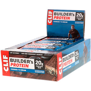 Клиф бар, Builder's Protein Bar, Cookies N' Cream, 12 Bars, 2.40 oz (68 g) Each отзывы покупателей