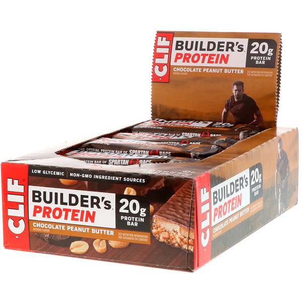 Builder's Protein Bar, Chocolate Peanut Butter, 12 Bars, 2.4 oz (68 g) Each
