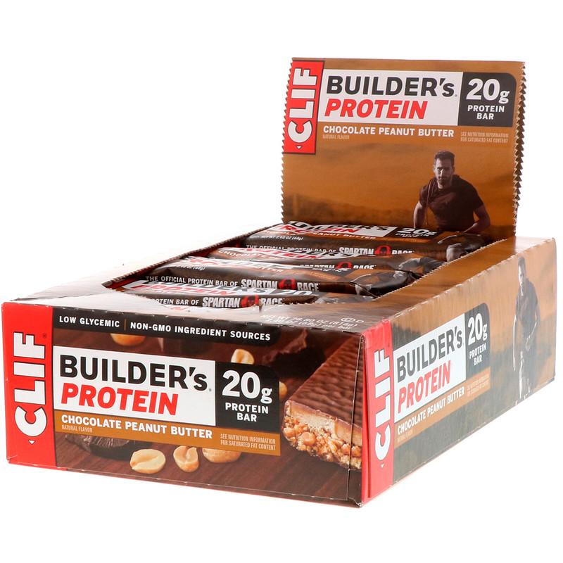 Builder's Protein Bar, Chocolate Peanut Butter, 12 Bars, 2.4 oz (68 g) Each
