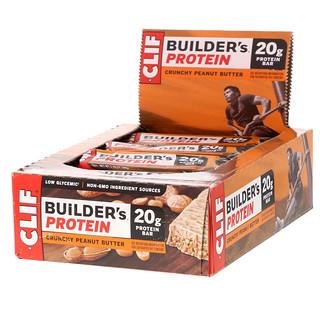 Clif Bar, Builder'sプロテインバー、クランチーピーナッツバター、12本、各2.4 oz (68 g)