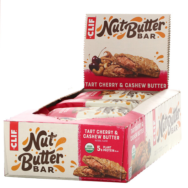 Clif Bar, Nut Butter Bar, Tart Cherry & Cashew Butter, 12 Bars, 1.76 oz (50 g) Each (Discontinued Item)
