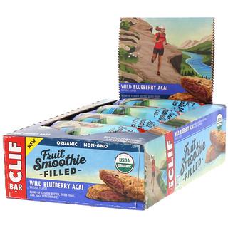 Clif Bar, Energy Bar, Fruit Smoothie Filled, Wild Blueberry Acai, 12 Bars, 1.76 oz (50 g) Each