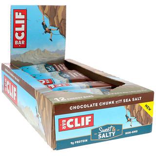 Clif Bar, Energy Bars, Chocolate Chunk with Sea Salt, 12 Bars, 2.40 oz (68 g) Each