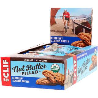 Clif Bar, Organic Nut Butter Filled Energy Bar, Blueberry Almond Butter, 12 Energy Bars, 1.76 oz (50 g) Each