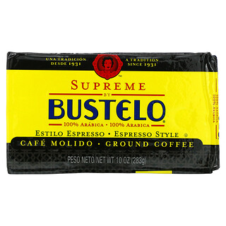 Cafe Bustelo, Supreme by Bustelo, Ground Coffee, 10 oz (283 g)