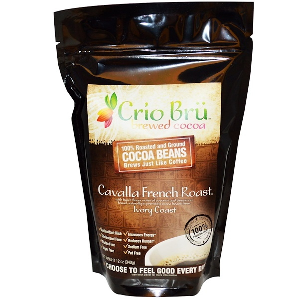 Crio Brü, Brewed Cocoa, Cavalla French Roast, 12 oz (340 g) (Discontinued Item)