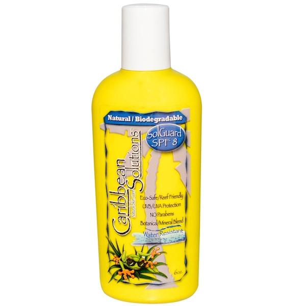 Caribbean Solutions, SolGuard SPF 8, Natural Skin Care, 6 oz (Discontinued Item)