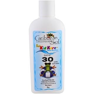 Caribbean Solutions, Sol Kid Kare, SPF 30, Water Resistant, 6 oz