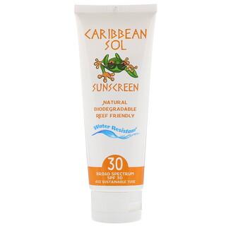 Caribbean Solutions, Солнцезащитное средство, SPF30, 4унции