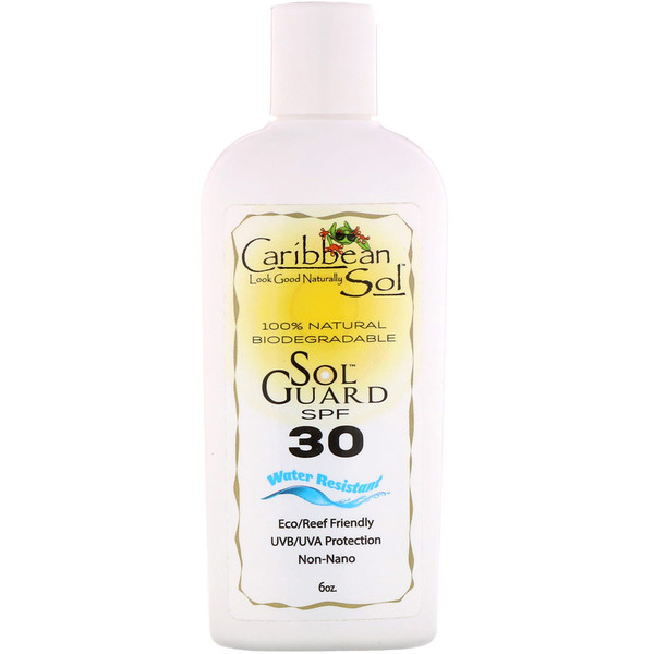 Caribbean Solutions, SolGuard SPF 30, Water Resistant, 6 oz (Discontinued Item)
