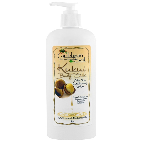 Caribbean Solutions, Kukui Body Silk, After Sun Conditioning Lotion, 8 oz (Discontinued Item)