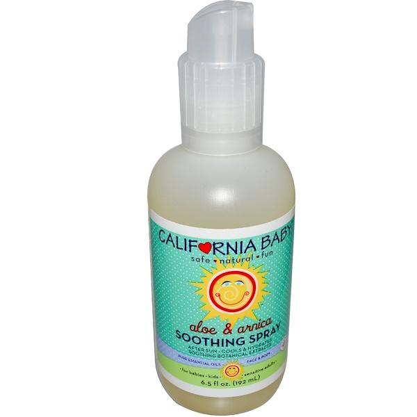 California Baby, Soothing Spray, Face & Body, Aloe & Arnica, 6.5 fl oz (192 ml) (Discontinued Item)