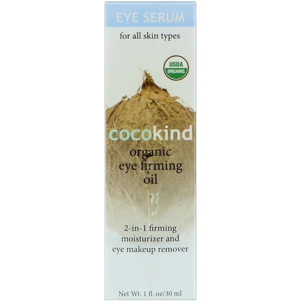 Cocokind, Organic Eye Firming Oil, 1 fl oz (30 ml) (Discontinued Item)