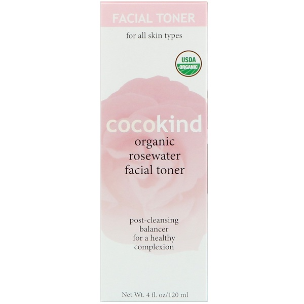 Cocokind, Organic Rosewater Facial Toner, 4 fl oz (120 ml) (Discontinued Item)