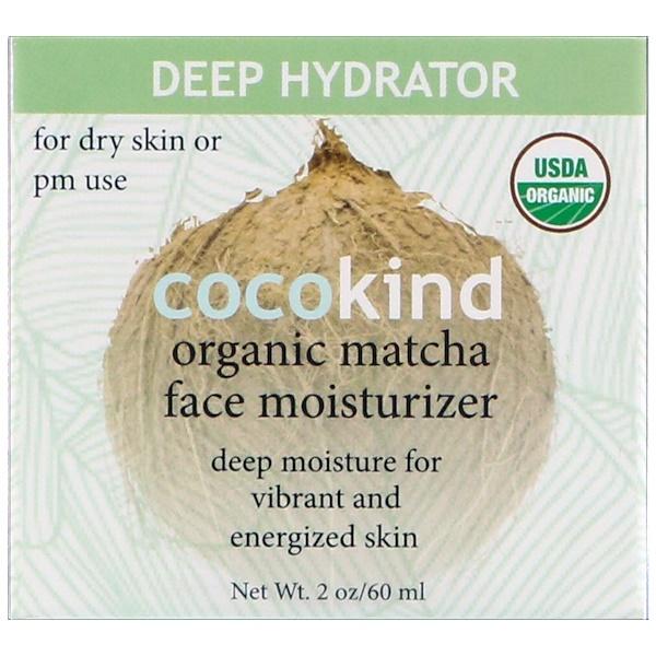 Cocokind, Hidratante facial orgánico, Matcha, 60 ml (2 oz) (Discontinued Item)