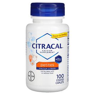 Citracal, Calcium Supplement + D3, Petites, 100 Coated Caplets