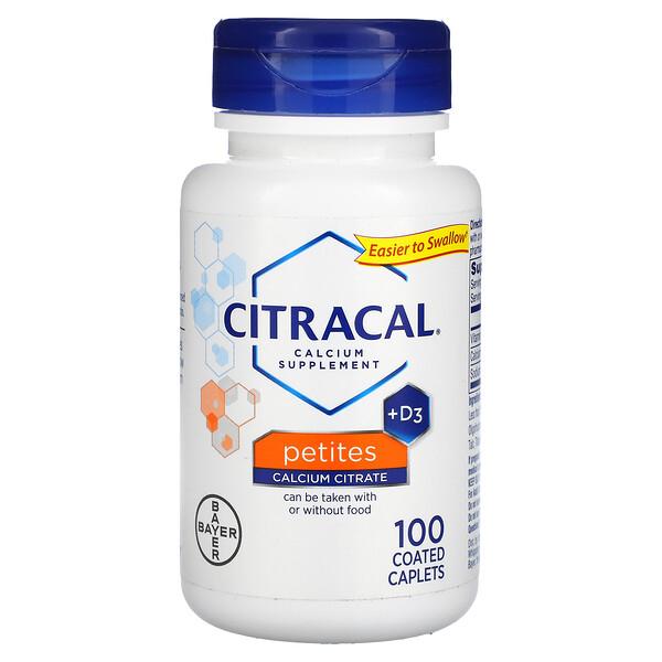 Calcium Supplement + D3, Petites, 100 Coated Caplets