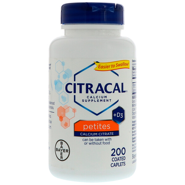 Citracal, Petites, תוסף סידן +D3‏, 200 קפליות מצופות
