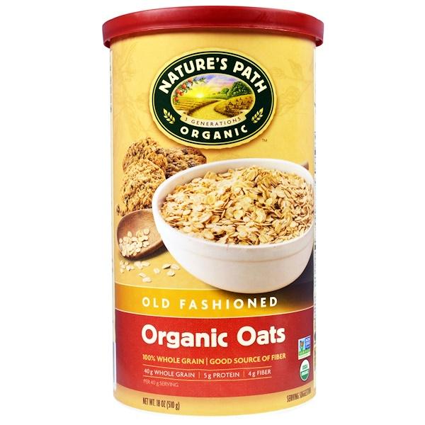 Country Choice Organic, Nature's Path(自然之路) 有機燕麥,老式,18盎司(510克)