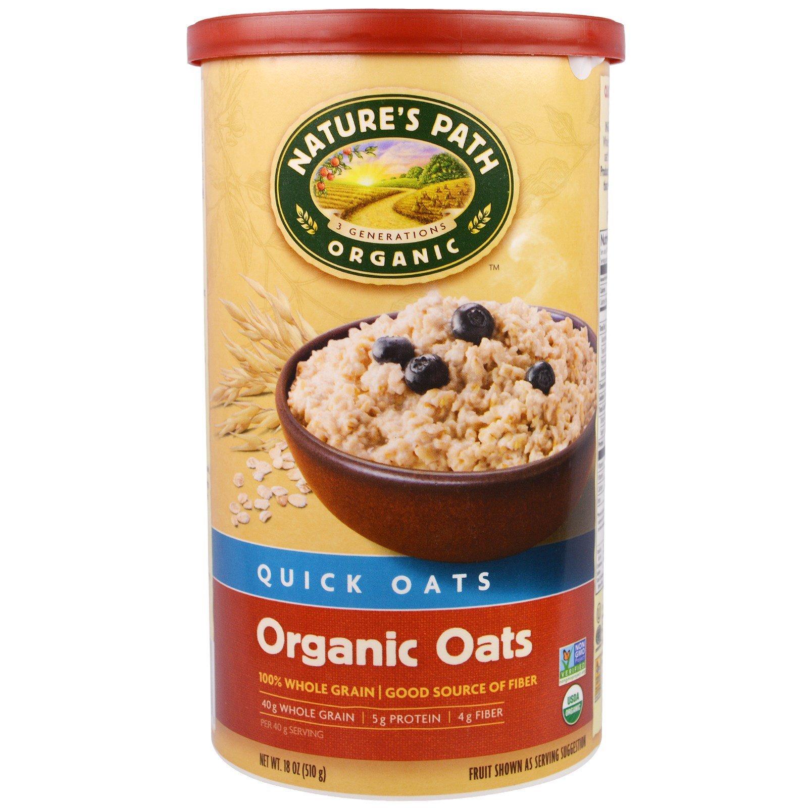 Country Choice Organic, Органические овсяные хлопья быстрого приготовления Natures's Path, 18 oz (510 г)