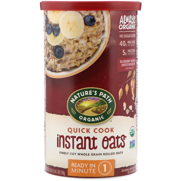 Country Choice Organic, Natures's Path, Organic, Quick Cook, Instant Oats , 18 oz (510 g)